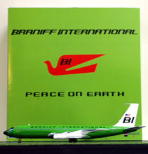 Airplane Model Braniff International Ross Perot Charter Boeing 707-327C Light Lime Green Solid Color Scheme 1/200 Scale