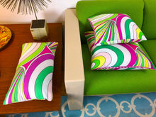Pillow or Lumbar Bar Pillow Braniff Pucci Design 1971 Collection Pink