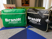 Flight Bag Luggage Retro Braniff Boeing 707 Logo Green Black