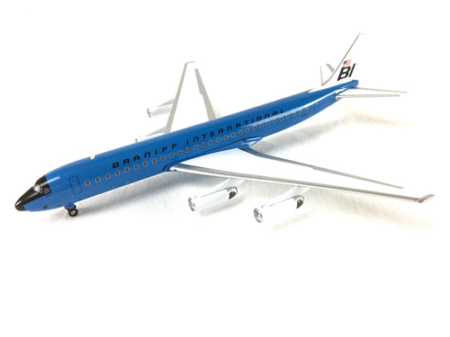 Airplane Model Braniff International McDonnell-Douglas DC-8-62 Girard New Dark Blue 1/200 Scale