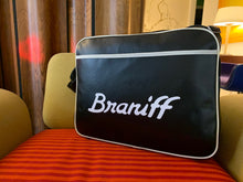 Flight Bag Luggage Retro Braniff Ultra Logo Green Black