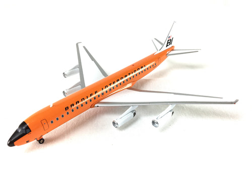 Airplane Model Braniff International McDonnell-Douglas DC-8-62 Girard Orange 1/200 Scale