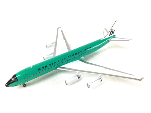 Airplane Model Braniff International McDonnell-Douglas DC-8-62 Alexander Girard Turquoise 1/200 Scale