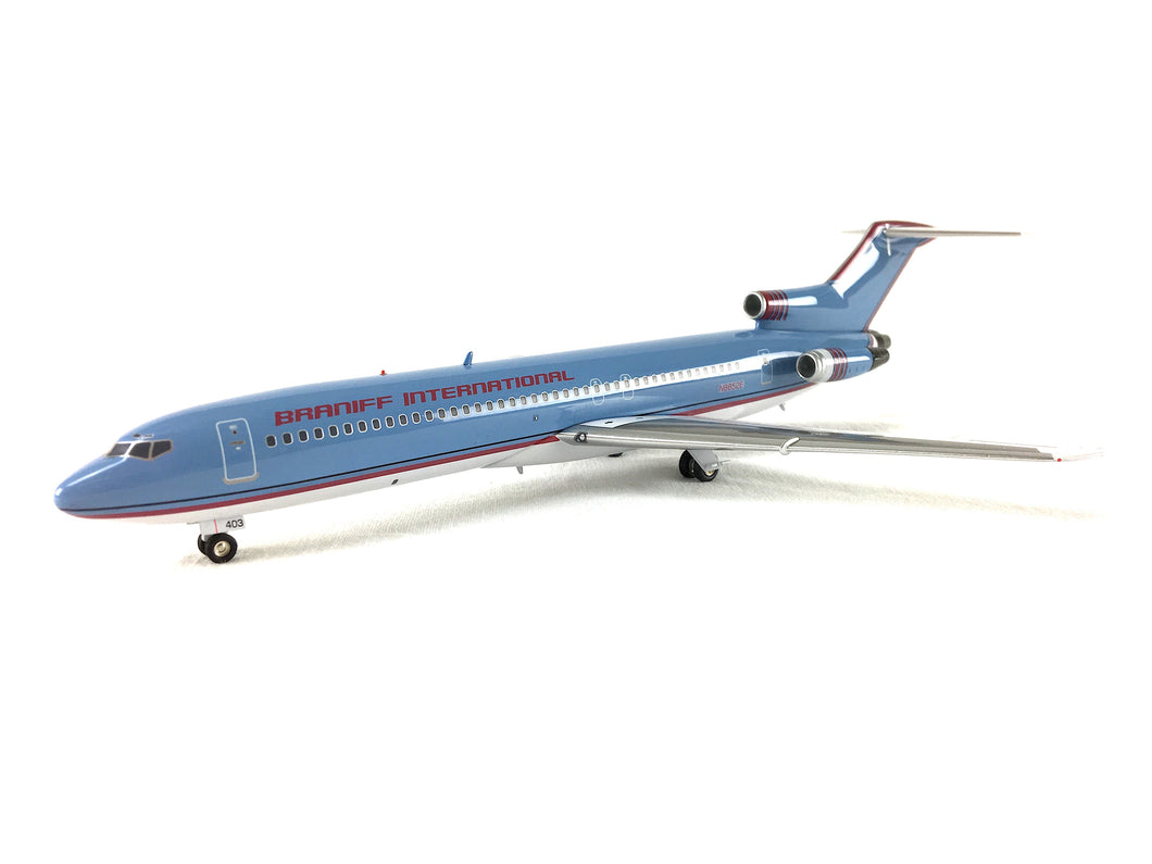 Airplane Model Braniff International Boeing 727-200 Light Blue Modified Ultra Color Scheme 1/200 Scale