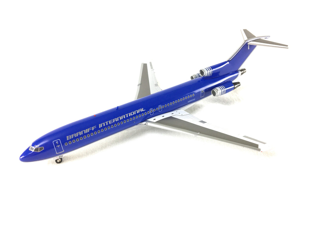 Airplane Model Braniff International Boeing 727-200 Purple Modified Ultra Color Scheme 1/200 Scale