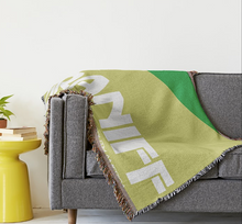 Throw Blanket 727 Braniff Place Two Tone Green