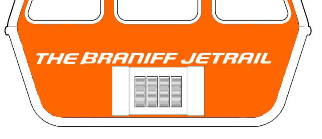 Luggage Tag Personalized Braniff Jetrail Air Coach Multiple Colors