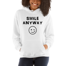 "Load image into Gallery viewer, ""Smile Anyway"" Hoodie Black"