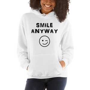 """Smile Anyway"" Hoodie Black"