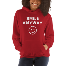"Load image into Gallery viewer, ""Smile Anyway"" Hoodie White"