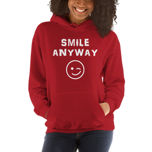 """Smile Anyway"" Hoodie White"