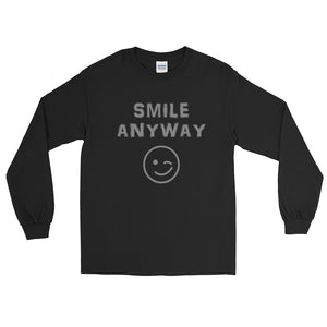 """Smile Anyway"" Gray Letter LS"