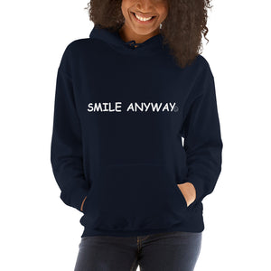 """Smile Anyway"" Hoodie White 2"