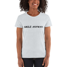 "Load image into Gallery viewer, ""Smile Anyway' Lady Black 2"