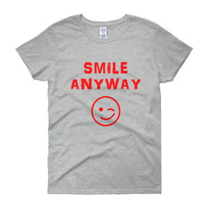 """Smile Anyway"" Lady Red"