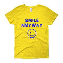 "Load image into Gallery viewer, ""Smile Anyway"" Lady Blue"