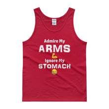 "Load image into Gallery viewer, ""ARMS"" White Letter Tank"