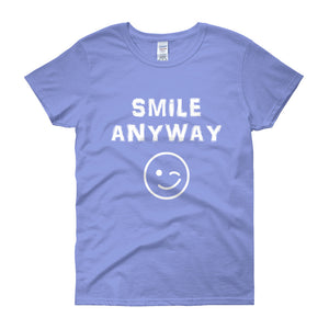 """Smile Anyway"" Lady White"