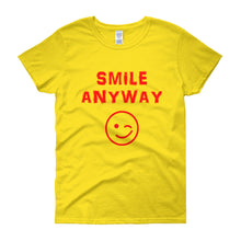"Load image into Gallery viewer, ""Smile Anyway"" Lady Red"