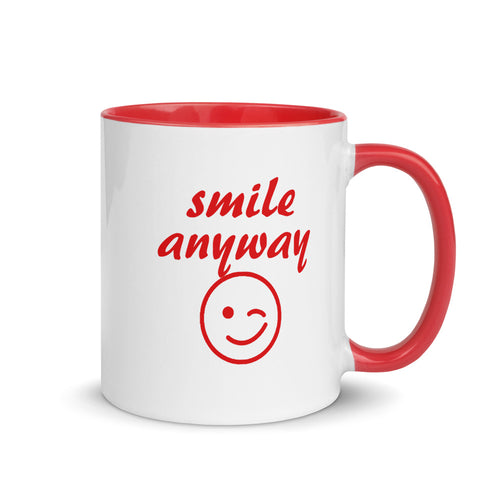 Smile Anyway Red Mug