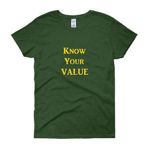"""Know Your Value"" Gold Letter"