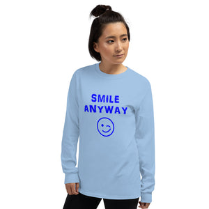 """Smile Anyway"" LS Blue"