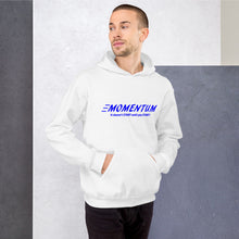 "Load image into Gallery viewer, ""Momentum"" Hoodie Blue"
