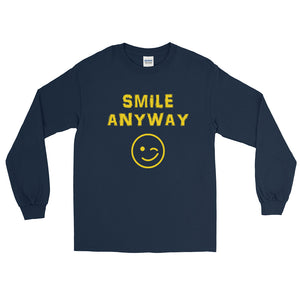 """Smile Anyway"" Gold Letter LS"