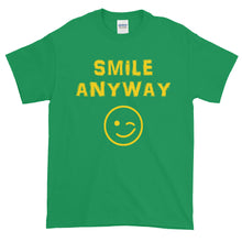 "Load image into Gallery viewer, ""Smile Anyway"" Gold Letter"
