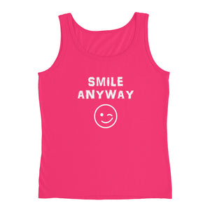 """Smile Anyway"" Tank White Letter"
