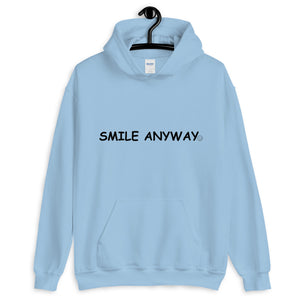 """Smile Anyway"" Hoodie Black 2"