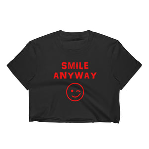 """Smile Anyway"" Crop Red Letter"