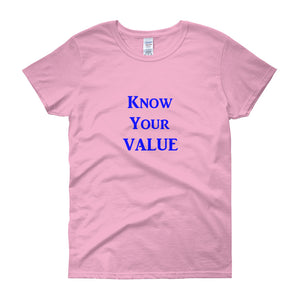 """Know Your Value"" Blue Letter"