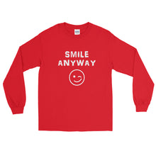 "Load image into Gallery viewer, ""Smile Anyway"" LS White"