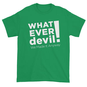 """Whatever devil!"" White X"