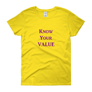 """Know Your Value"" Purple Letter"