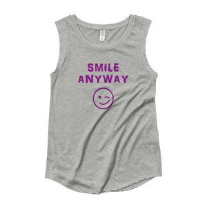 """Smile Anyway"" Something Special Purple Letter"