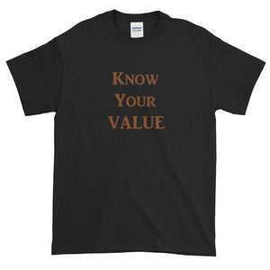 """Know Your Value"" Brown Letter"