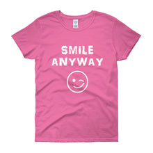 "Load image into Gallery viewer, ""Smile Anyway"" Lady White"