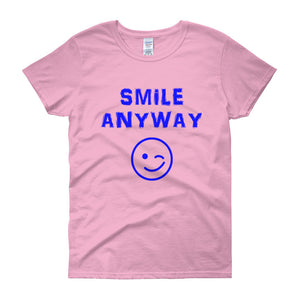 """Smile Anyway"" Lady Blue"