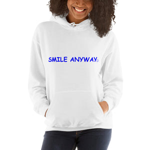 """Smile Anyway"" Hoodie Blue 2"