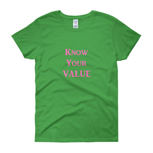 """Know Your Value"" Pink Letter"