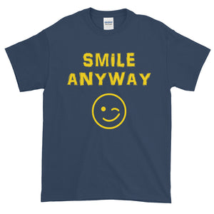 """Smile Anyway"" Gold Letter"