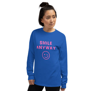 """Smile Anyway"" LS Pink"