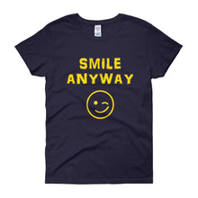 "Load image into Gallery viewer, ""Smile Anyway"" Lady Gold"