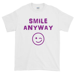 """Smile Anyway"" Purple Letter"