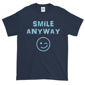 """Smile Anyway"" Sky Blue Letter"