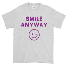 "Load image into Gallery viewer, ""Smile Anyway"" Purple Letter"