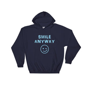 """Smile Anyway"" Hoodie Sky Blue"