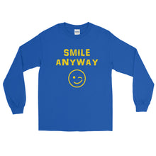 "Load image into Gallery viewer, ""Smile Anyway"" Gold Letter LS"